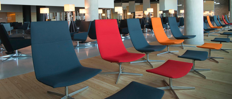 ANA Lounge chairs look out runway